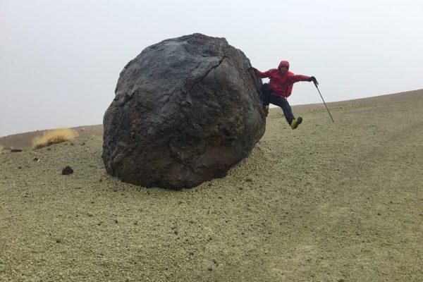 Bomba erupción del Teide