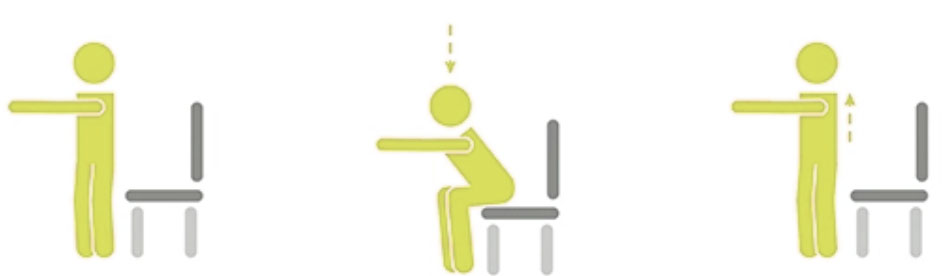 sentadillas de senderismo